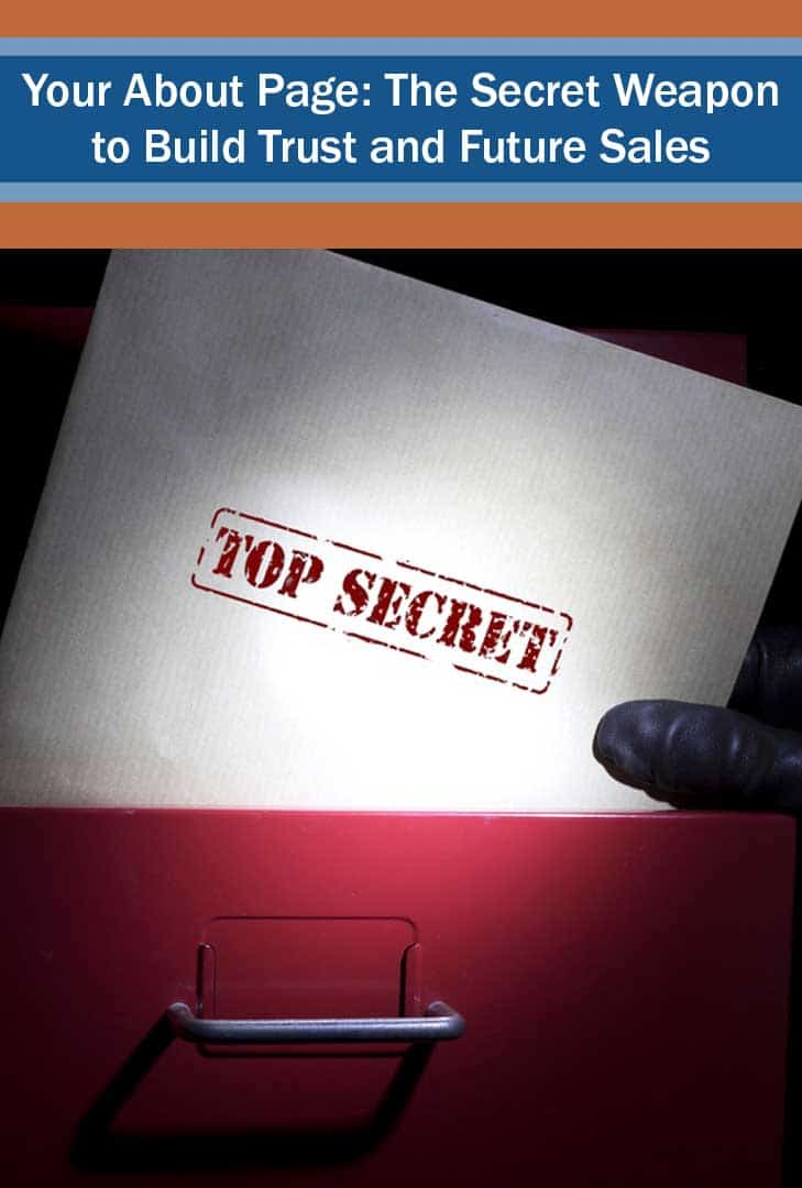 top secret image - your about page - the key to trust