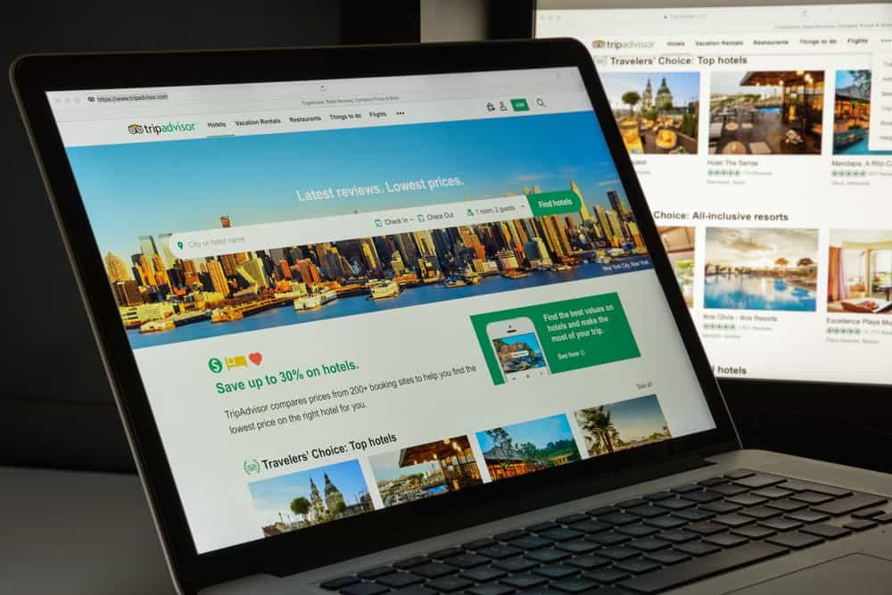 image of tripadvisor profile page platform on the internet