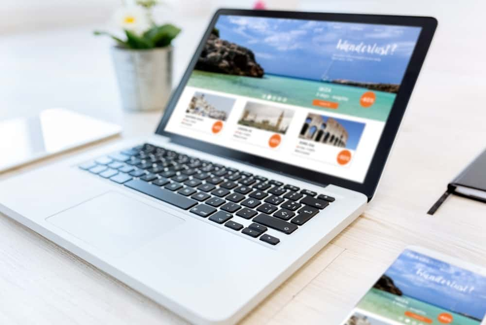 website copyrighting for tourism - image of a vacation page for a tour company