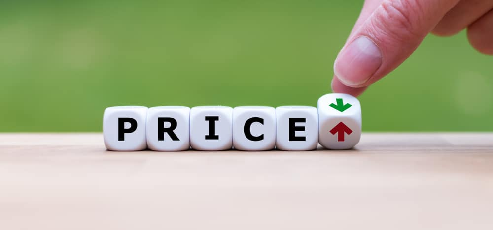 Price - image of determining whether price is up or down